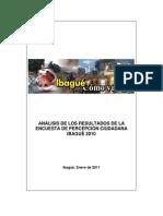 Analisis Percepcion Ciudadana Ibague 2010