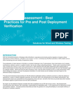Best Practices for Pre and Post Deployment Verification