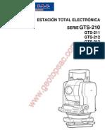Manual Estacion Total Topcon Gts-210