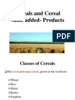 Cereals and Cereals by Products