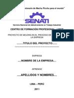 Caràtula indice presentación de proyecto de mejora de métodos