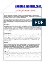 Genset Preventive Maintenance