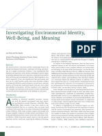 Environmental Identity, Well-Being, And Meaning