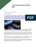Cara Mencuri Password Dan Username Facebook Dengan Keylogger