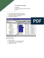 Operaciones básicas en archivos texto y binario