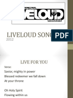 LIVELOUD 2012 Powerpoint