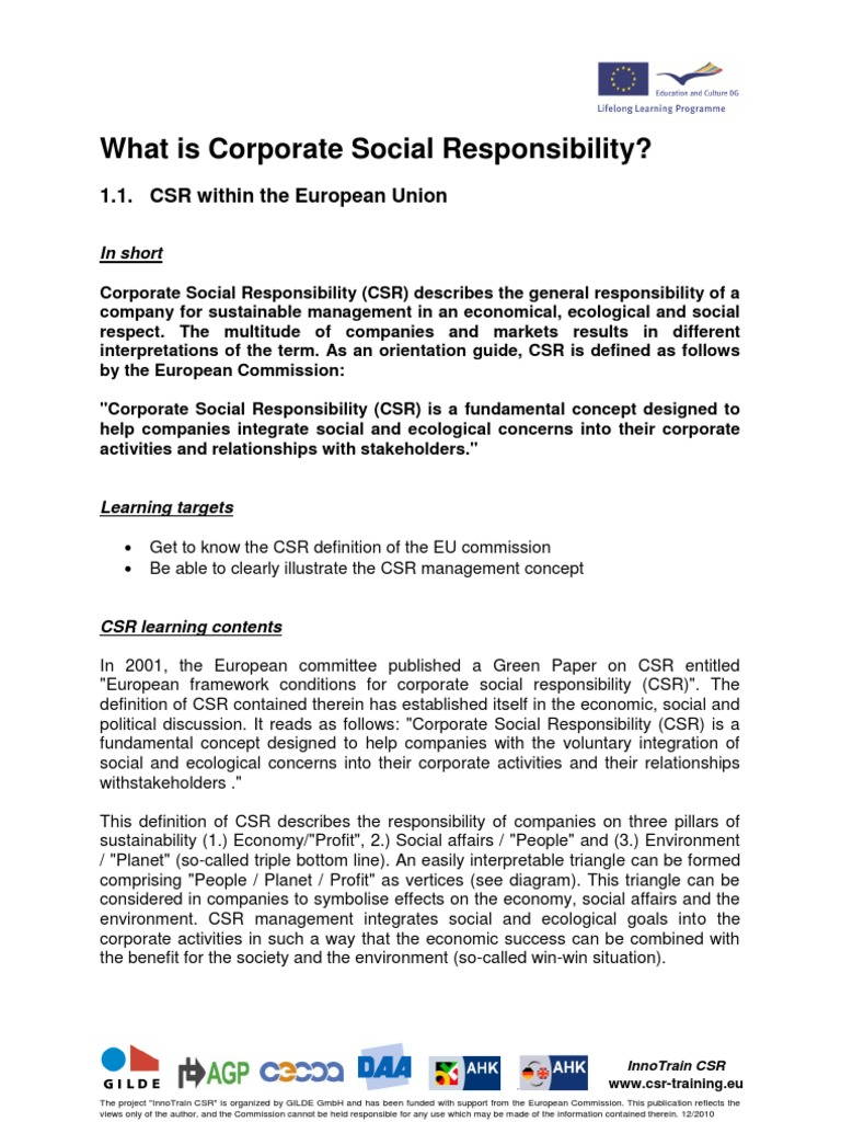 training 1 1 | corporate social responsibility | profit (accounting)