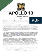 APOLLO 13 Problem Solution & Management