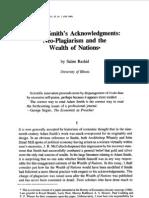Adam Smith's Acknowledgments Neo-Plagiarism