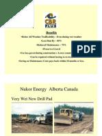 CBR PLUS Stabilization Oil Petroleoum Plataform for NUKOR ENERGY Alberta Canada