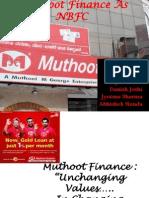 Muthoot Finance as Nbfc - Love Mahajan