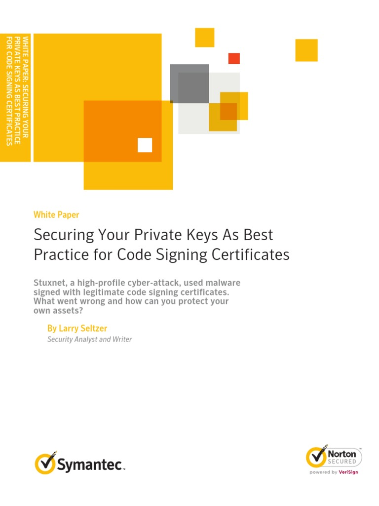 Securing Your Private Keys As Best Practice For Code Signing