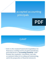Generally Accepted Accounting Principals