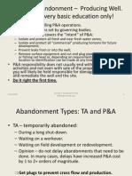 Plug-And Abandonment Basics