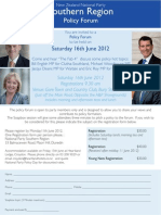 Southern Regional Policy Forum 2012
