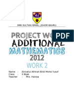 Additional Mathematics Project Work 2/2012 Johor