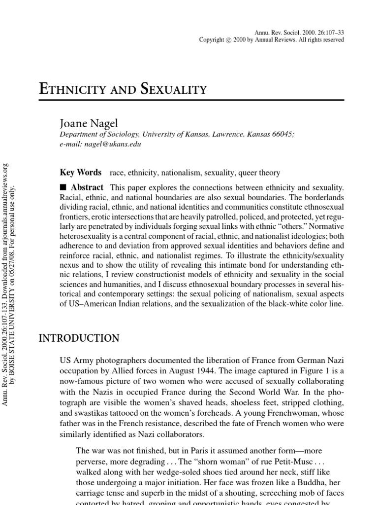 Ethnosexual boundaries