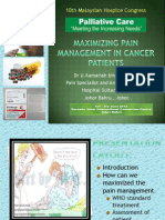 Maximizing Pain Management in Cancer Patients_dr Ungku Kamariah