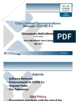 Cisco Unified Coummications Manager 8x