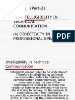A) Intelligibility in Technical Communication