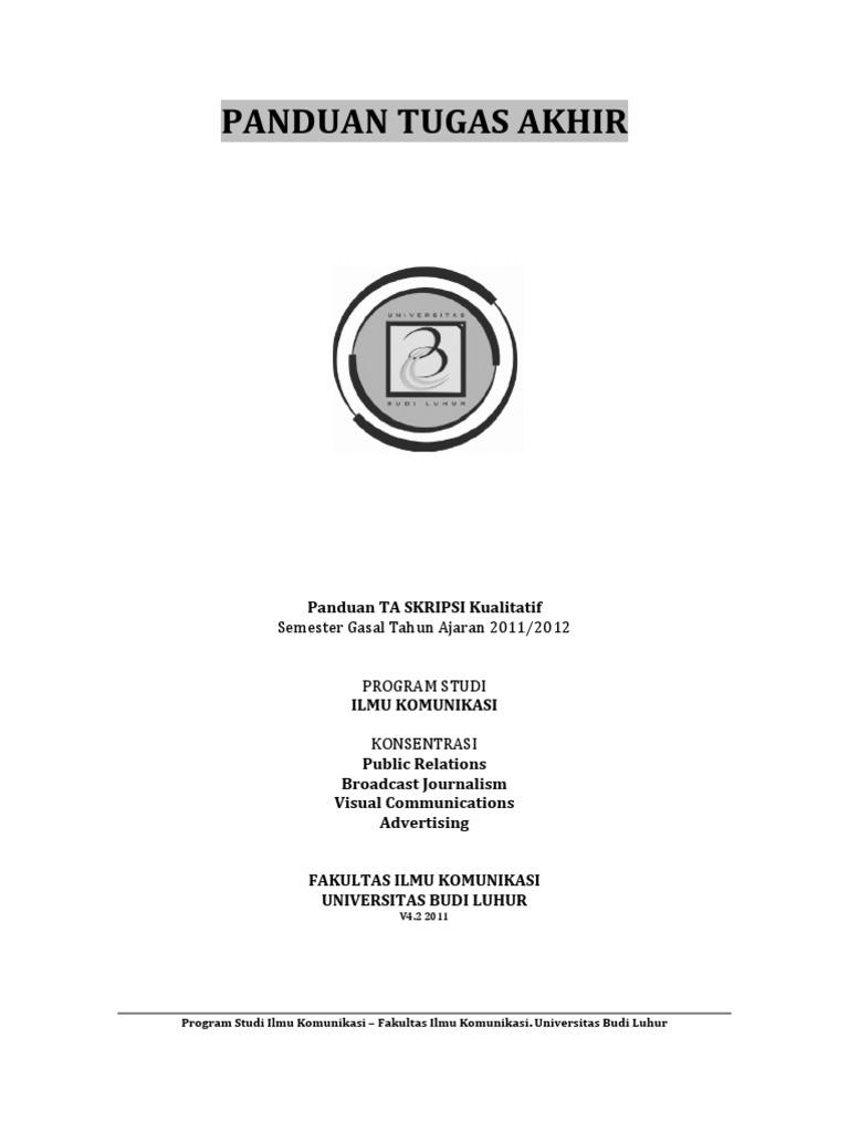 Contoh Skripsi Ilmu Komunikasi Contoh Soal Dan Materi Pelajaran 8