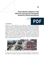 InTech-Finite Element Analysis of Wall Deflection and Ground Movements Caused by Braced Excavations