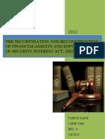 A Report on Sarfaesi
