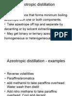 Azeo Extra Mole Reac Distillation
