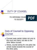 Duty of Counsel (3)