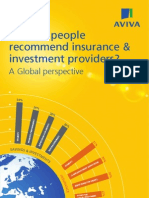 Why do people recommend insurance & investment providers? A Global perspective