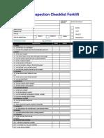 Inspection Checklist Forklift