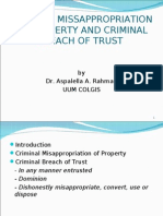 Criminal Misappropriation of Property