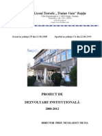 PDI Silvia Nicolaescu 2008-2012