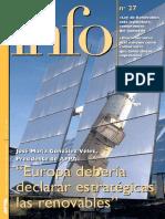 Europa debería declarar estratégicas las renovables(Es)/ Europe should declare the renewables strategic(Spanish)/ Europak estrategiko izendatu beharko lituzte berriztagarriak(Es)