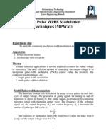 Multiple Pulse Width Modulation