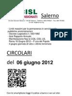 Circolari Del 06 Giugno 2012