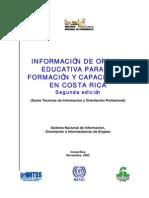 Guía de Información de la Oferta Educativa y de Capacitación en Costa Rica