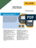 Fluke 434 and 435 Power Quality Analyzer Datasheet