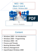 MCS – 041 Block  3 Unit 4 Case Study - Windows 2000