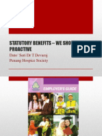 STATUTORY BENEFITS – WE SHOULD BE PROACTIVE_Dato'Seri Dr T Devaraj