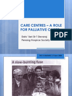 CARE CENTRES – A ROLE FOR PALLIATIVE CARE_Dato' Seri Dr T Devaraj