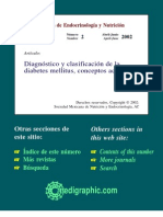 Diagnostico y Clasificacion de La Diabetes Mellitus, Conceptos Actuales