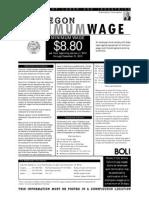 Oregon Minimum Wage  2012