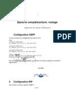 Epreuve Routage 2004 Indications de Correction