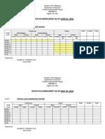 Tentativ Enrolment May-june 01 2012