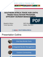 Efficient Border Management USAID Southern Africa Trade Hub