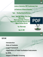 Breaking down the barriers Nigeria Customs Service