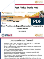 Best Practices in Export Promotion Vanessa Adams USAID Trade Hub