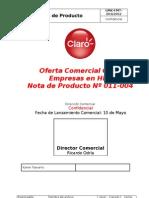 011-004 - Oferta Comercial Claro Empresas en HFC