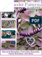 20 Bracelet Patterns Macram Bracelets Friendship Bracelets Hemp Bracelets and More eBook
